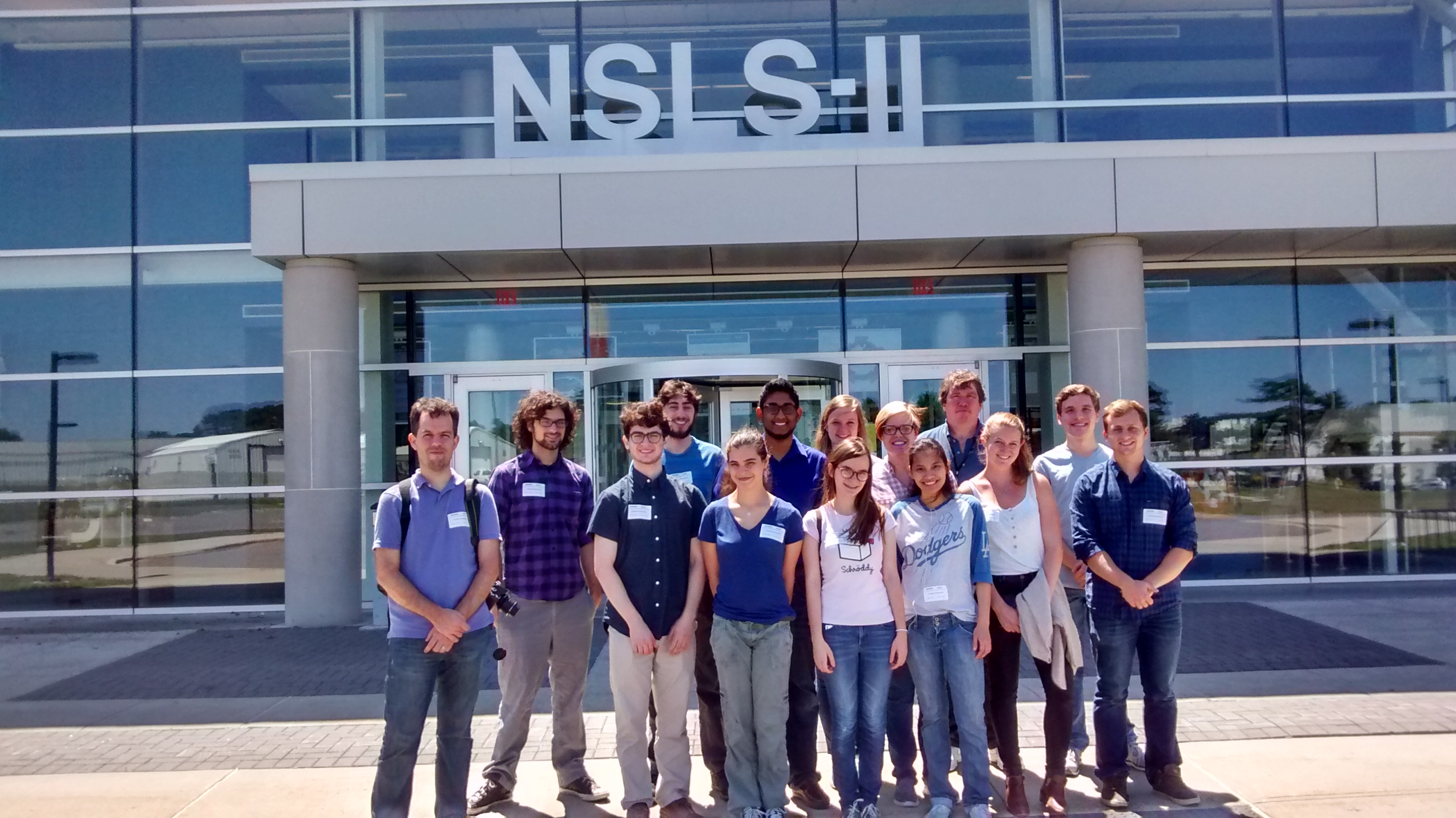 2015 REU students at BNL